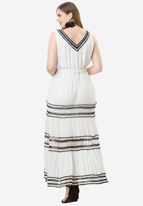 5ac58f9f183 Tiered Crochet Crinkle Dress