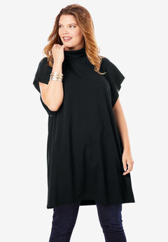 Side-Snap Mockneck Top,