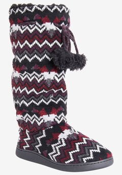 Gloria Tall Slipper by Muk Luks,