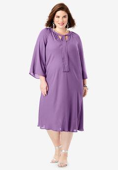 Bell-Sleeve Dress,