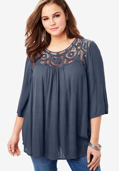 Lace Crochet Tunic,
