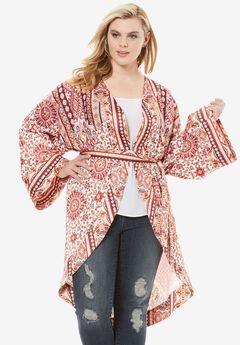 Multi-Print Kimono Jacket,