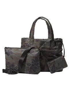 3-Piece Quilted Bag Set.,