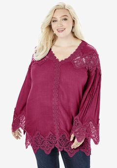 Lace-Trim Tunic,
