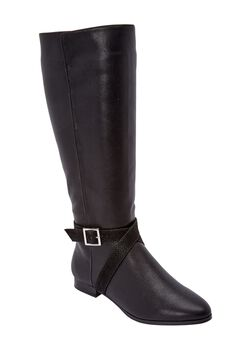 The Arizona Wide Calf Boot by Comfortview®, BLACK