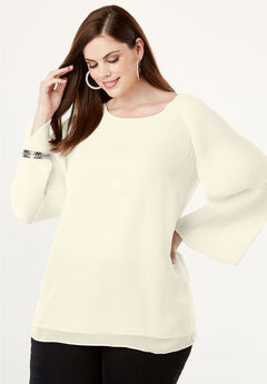 Tiered Bell Sleeve Top,