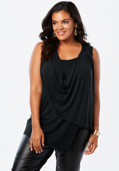 Sleeveless Drape Tank,