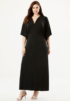 Flutter-Sleeve Maxi Dress,