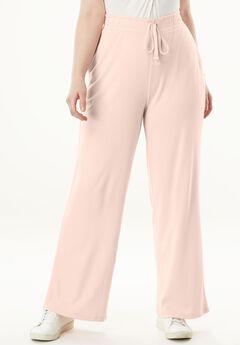 Wide Leg Soft Knit Pant,