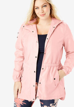 Essential Rain Jacket with High-Low Hem,