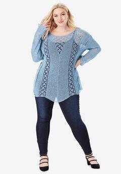 Open-Knit Sweater,