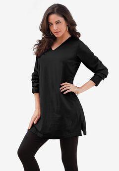 Long-Sleeve V-Neck Ultimate Tunic,