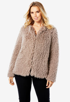 Lightweight Faux Shearling Coat,
