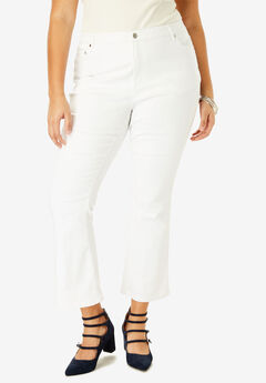 Crop Flare Jean , WHITE DENIM