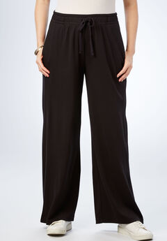 Wide Leg Soft Knit Pant,