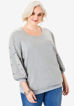 Embellished Sweatshirt Tunic,