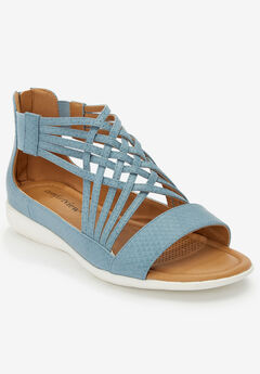 The Alicia Sandal by Comfortview®, DENIM