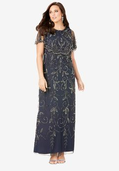 Glam Maxi Dress, NAVY