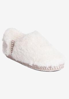 Joanna Fur Moccasin Slipper by Muk Luks, IVORY
