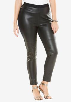 Faux-Leather Legging, BLACK