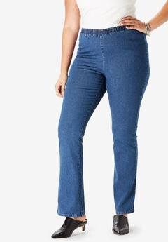 Bootcut Pull-On Stretch Denim Jean by Denim 24/7®,