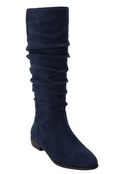 The Shelly Wide Calf Boot by Comfortview®, NAVY