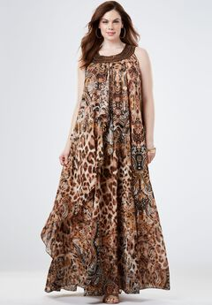 Tribal Maxi Dress,