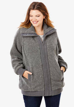 Fleece Bomber Coat,
