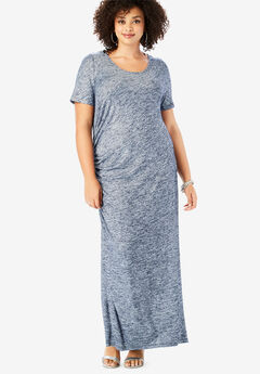 Supersoft Ruched Maxi Dress, NAVY
