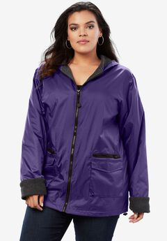 Hooded Jacket with Fleece Lining,