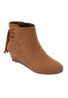 The Evalyn Bootie by Comfortview®, COGNAC