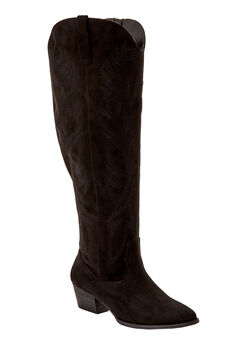 The Isabella Wide Calf Boot by Comfortview®, BLACK