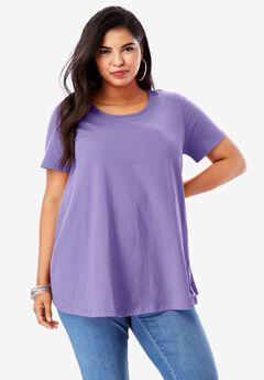 Swing Ultimate Tee with Keyhole Back, PURPLE LILY