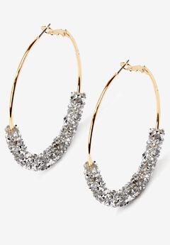 Glittery Hoop Earrings,