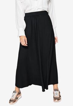 Knit Maxi Skirt by Castaluna, BLACK