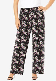 Ultrasmooth® Fabric Wide-Leg Pant, PEONY FLORAL