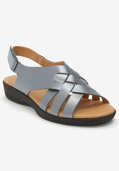 The Lake Sling Sandal by Comfortview®, GUNMETAL