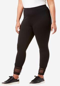 Lace-Hem Legging,