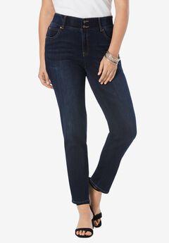The Straight-Leg Curvy Jean by Denim 24/7®, DARK WASH