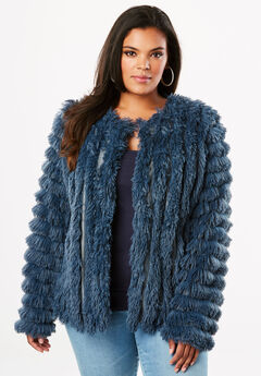 Cardigan with Allover Fringe,