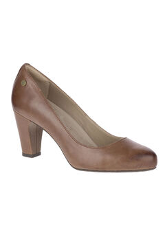 Minam Meaghan Pumps by Hush Puppies®, BROWN LEATHER