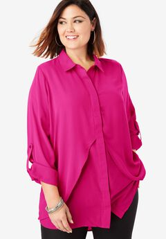 Georgette-Overlay Tunic,