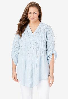 Glam-Embellished Maxi Tunic with Beading,