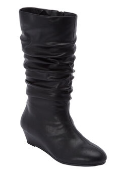 The Dori Wide Calf Boot by Comfortview®, BLACK