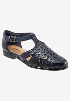 Leatha Open Weave Sandal by Trotters®, NAVY