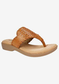 Benicia Sandal by Rialto, NATURAL BURNISHED SMOOTH