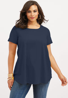 Swing Ultimate Tee with Keyhole Back, NAVY BLUE