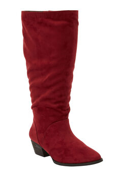 The Felicity Wide Calf Boot by Comfortview®, RICH BURGUNDY