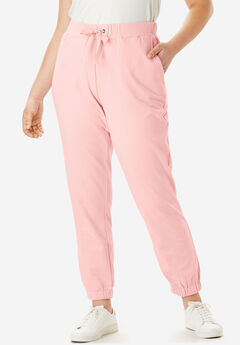 French Terry Jogger with Ribbon Drawstring,