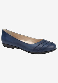 Clara Flat by Cliffs by White Mountain, NAVY BURNISHED SMOOTH